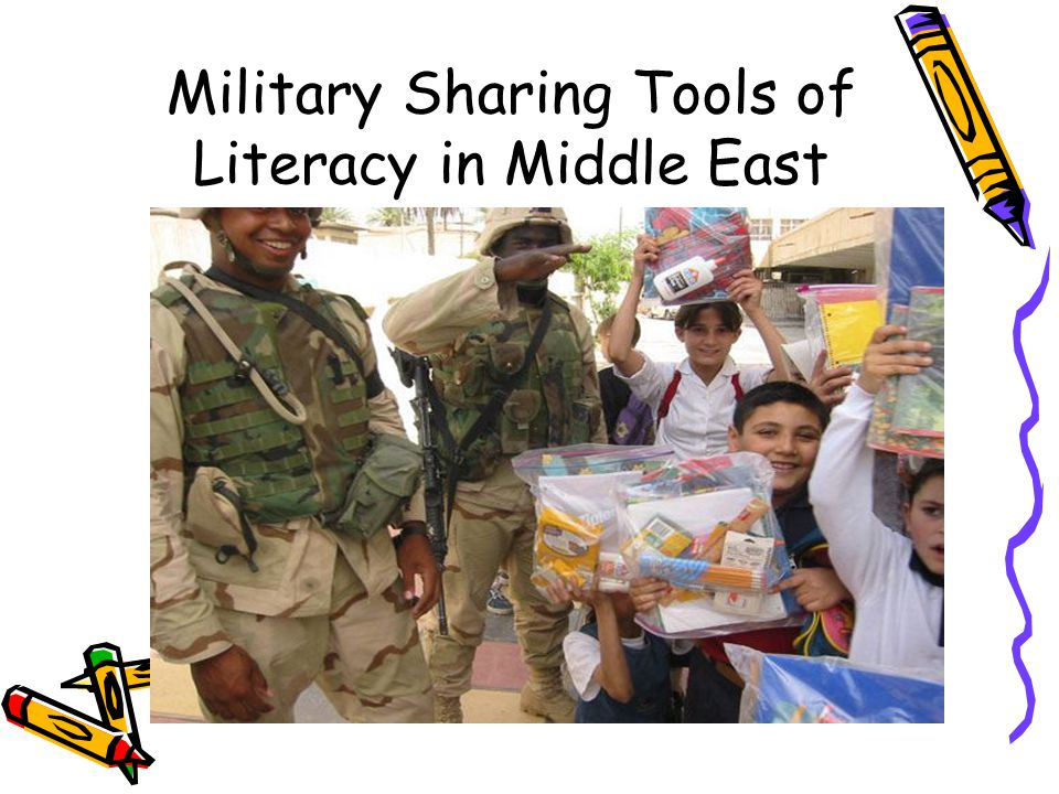 Military Sharing Tools of Literacy in Middle East