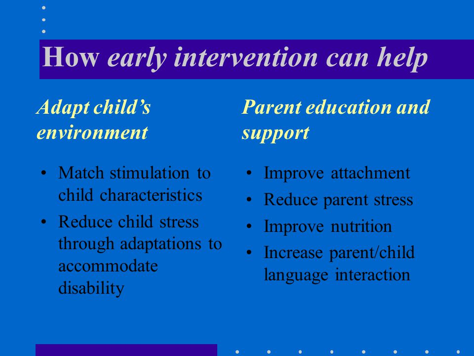 Babies with special needs may experience high stress levels Sensory defensiveness, communication delays etc.