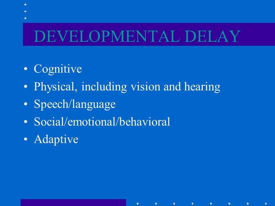 ELIGIBILITY FOR EARLY INTERVENTION SERVICES Developmental Delay Biological Risk Environmental Risk