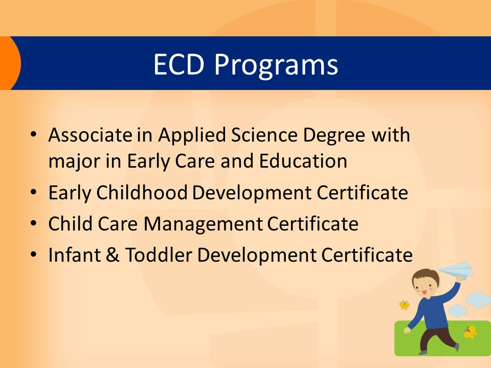Early Childhood Programs Ecd Programs Associate In Applied Science