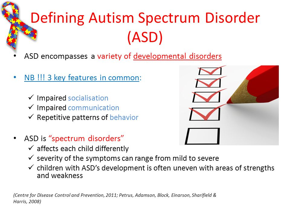 autism spectrum disorder essay Prof cronin autism spectrum disorder: cause and effect autism spectrum disorder (asd) is a range of heterogeneous neurodevelopmental disorders, characterized by social impairments, communication difficulties and restricted, repetitive and stereotyped patterns of behavior.
