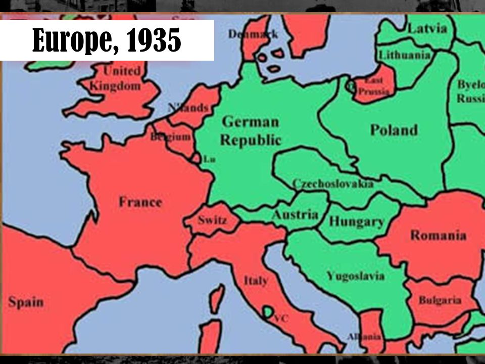 Nazi Map Of Europe.German Aggression Europe 1935 The Rise Of Hitler Review Adolf