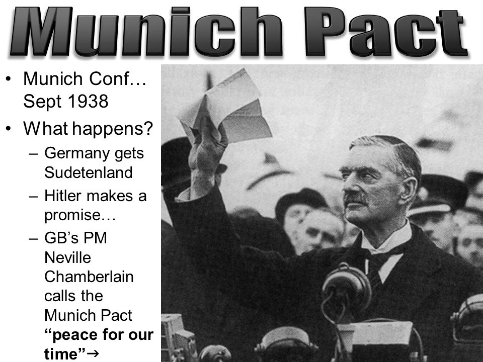 an analysis of the munich pact and the appeasement of hitler 2012-9-27  if you are interested in learning more about the munich agreement, here are some books worth reading: faber, david munich, 1938: appeasement and world war ii (2009.