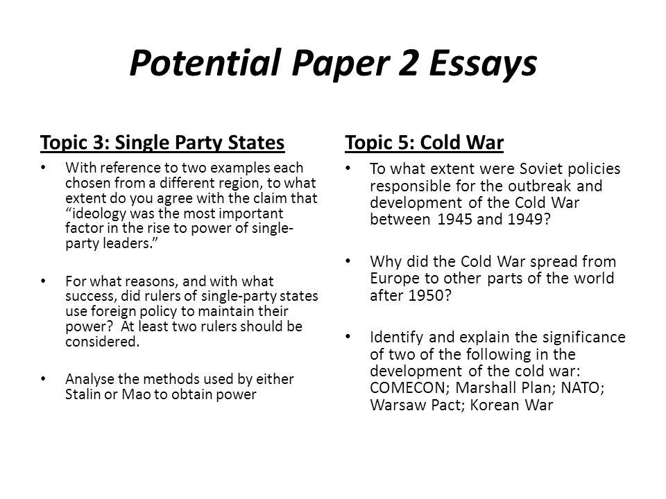 the chosen essay topics
