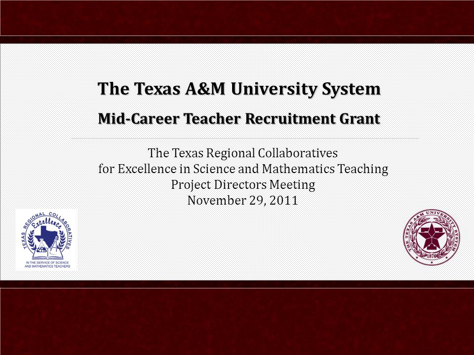 The Texas Regional Collaboratives For Excellence In Science And