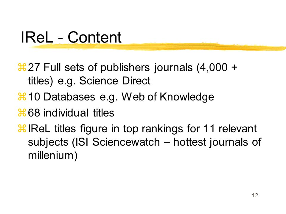 12 z27 Full sets of publishers journals (4,000 + titles) e.g.