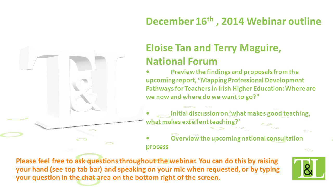Free Webinar December 16th Developing >> December 16 Th 2014 Webinar Outline Eloise Tan And Terry Maguire