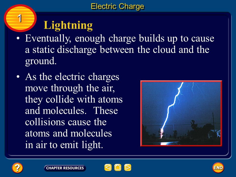 Lightning is a large static discharge.