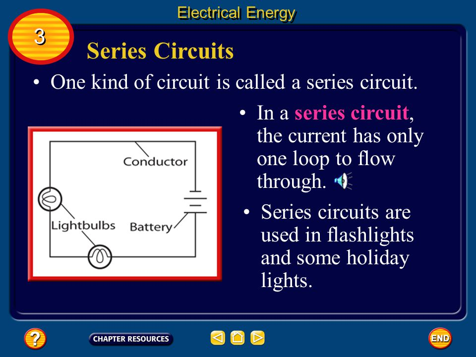 Series and Parallel Circuits Circuits usually include three components.