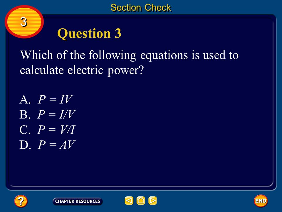 Section Check The answer is C.