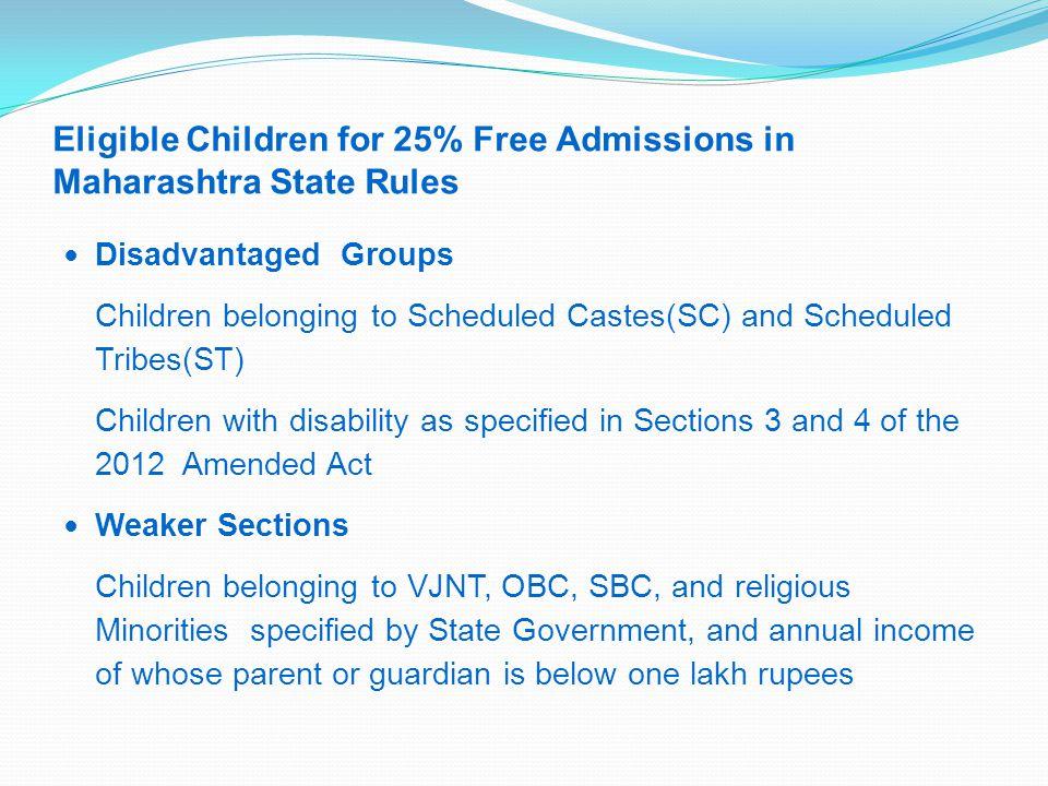 25% Free Admission Reservation Analysis of Maharashtra Rules