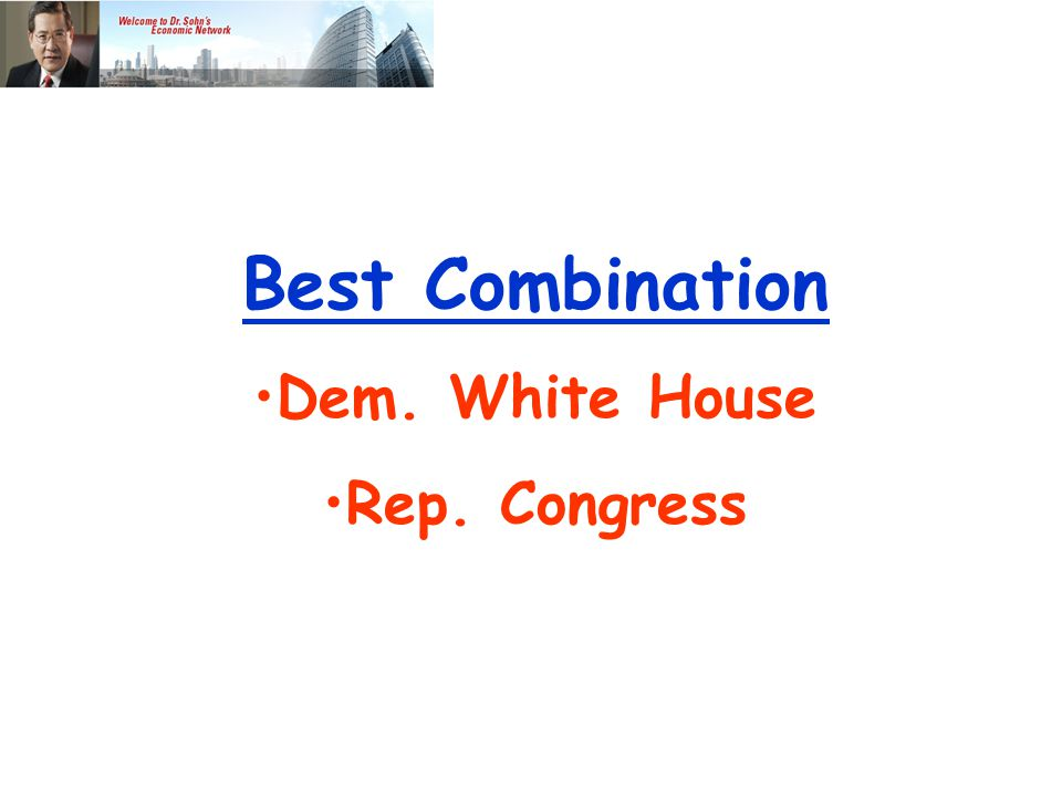 Best Combination Dem. White House Rep. Congress