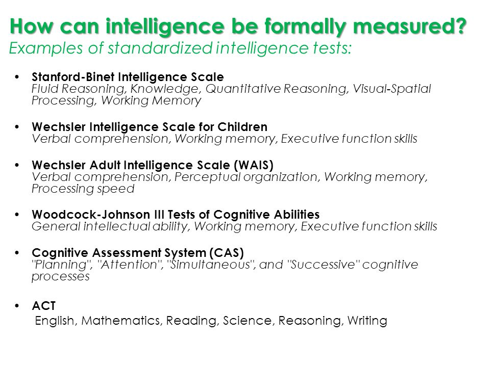 wechsler adult intelligence scale example