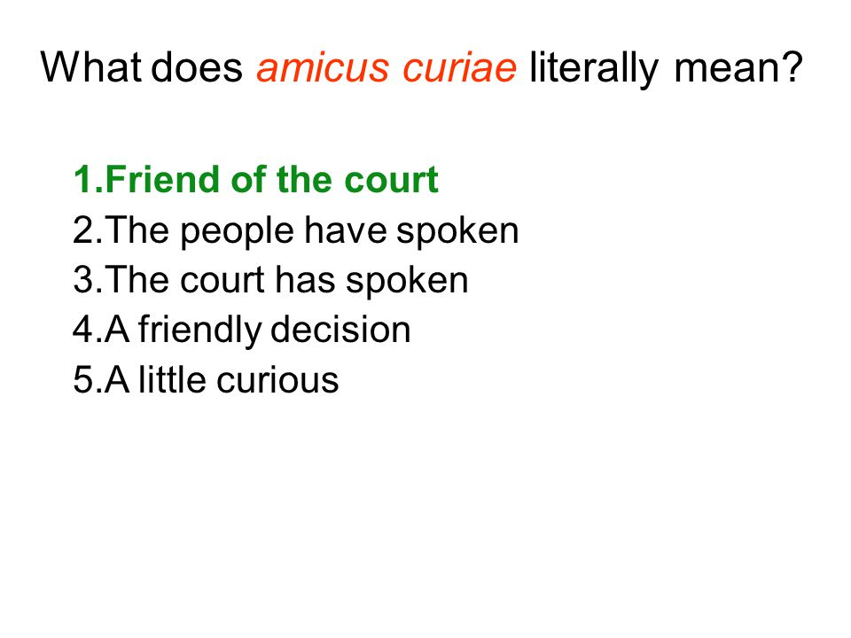 What does amicus curiae literally mean.