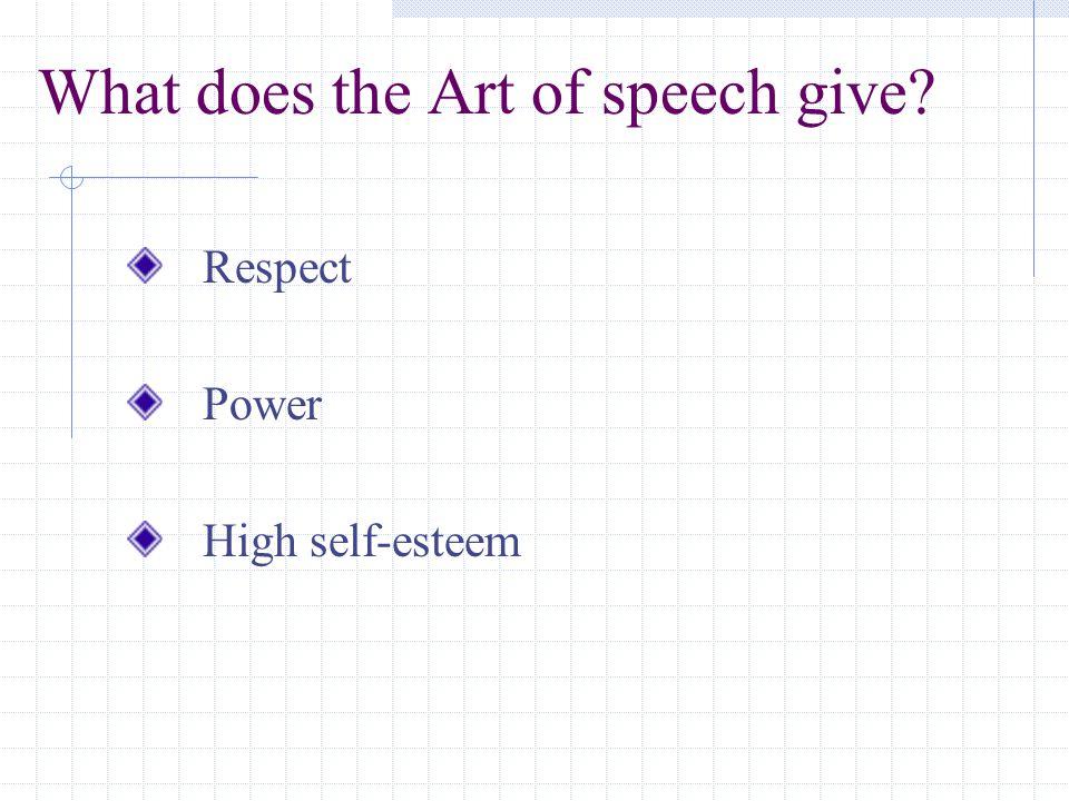 give respect get respect speech