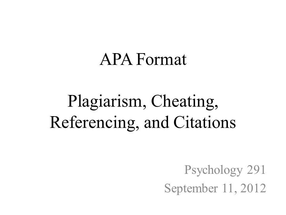 apa format plagiarism cheating referencing and citations