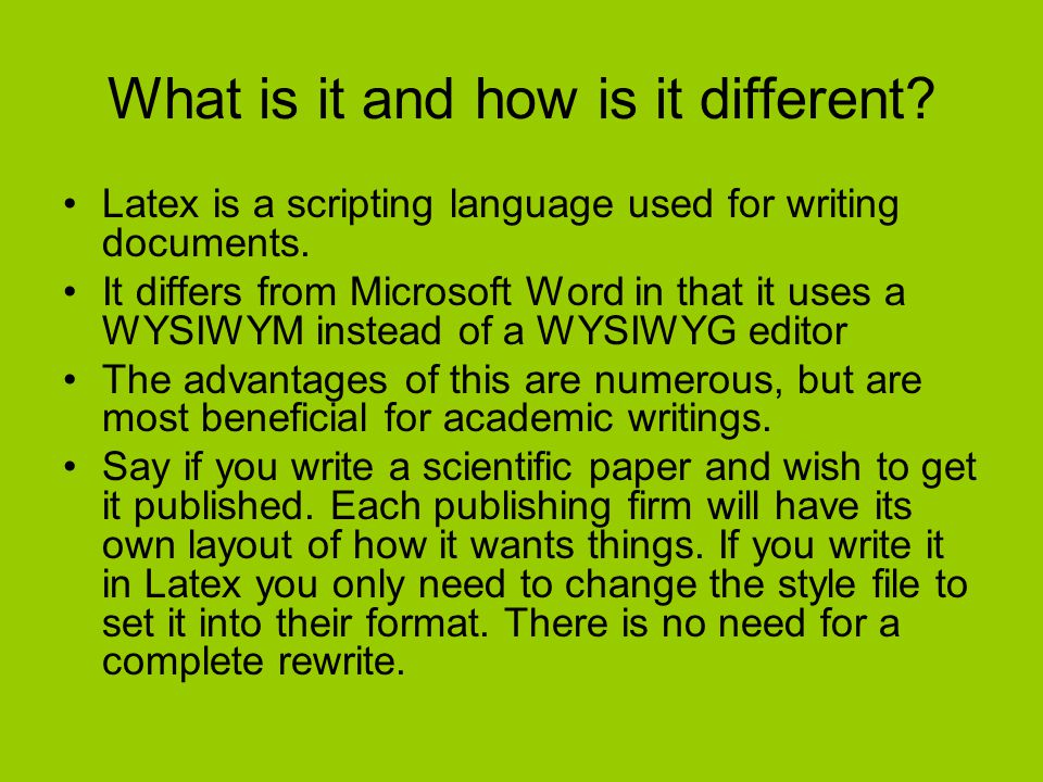 LaTeX How to setup and write a lab in LaTeX  What is it and
