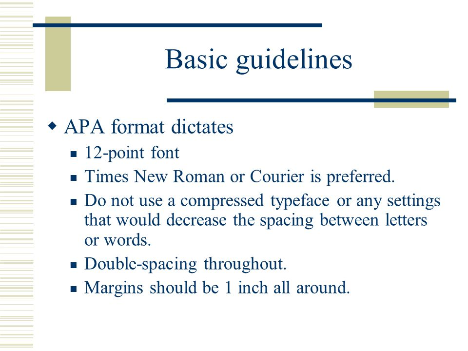 writing papers in apa format basic guidelines apa format