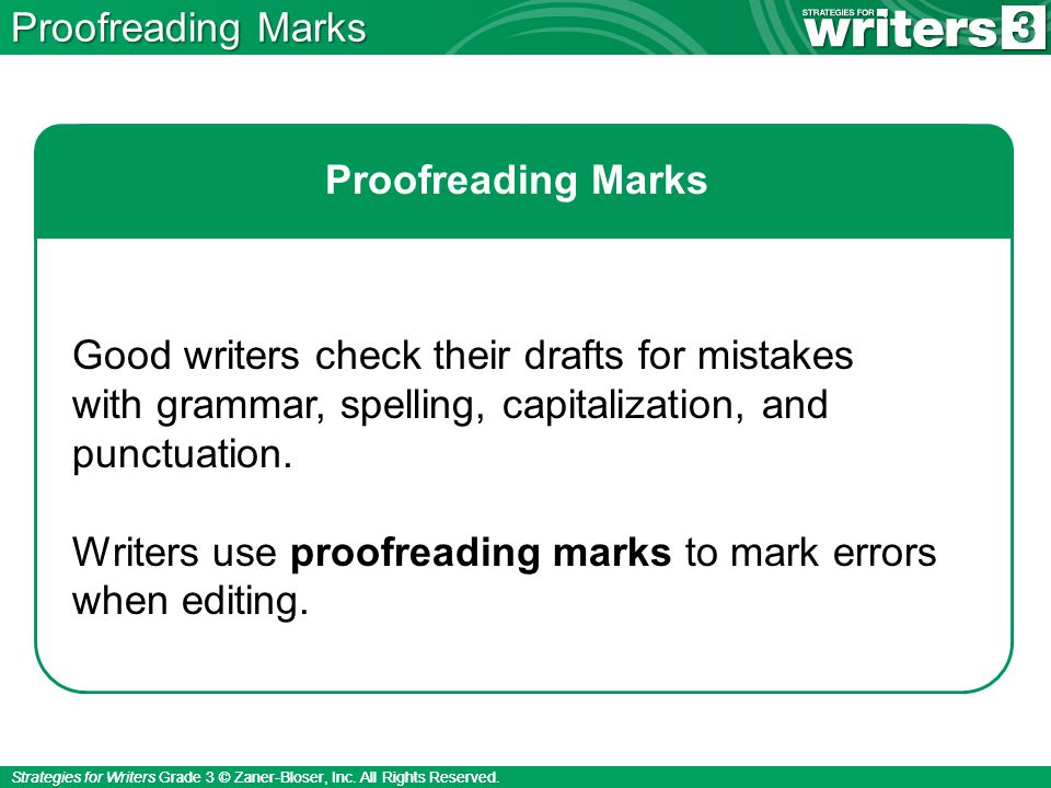 Strategies for Writers Grade 3 © Zaner-Bloser, Inc.