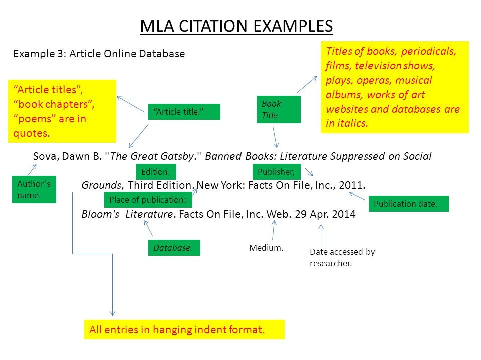 mla citation format for book