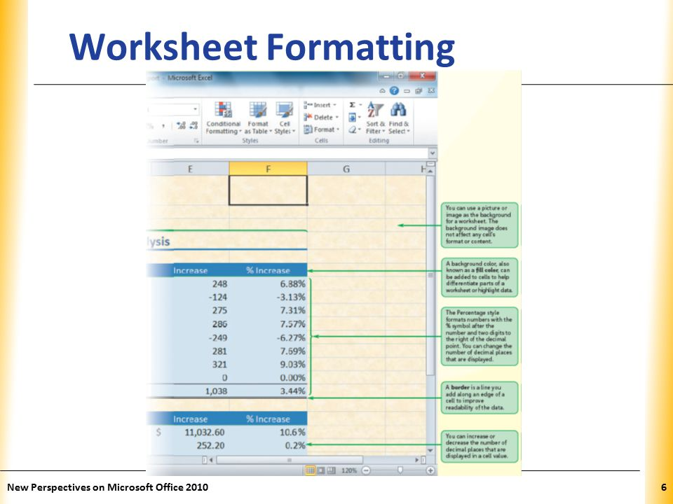 XP New Perspectives on Microsoft Office Worksheet Formatting