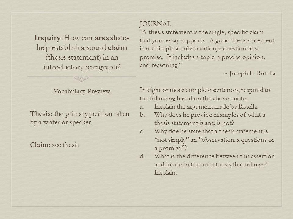 good anecdotes for essays