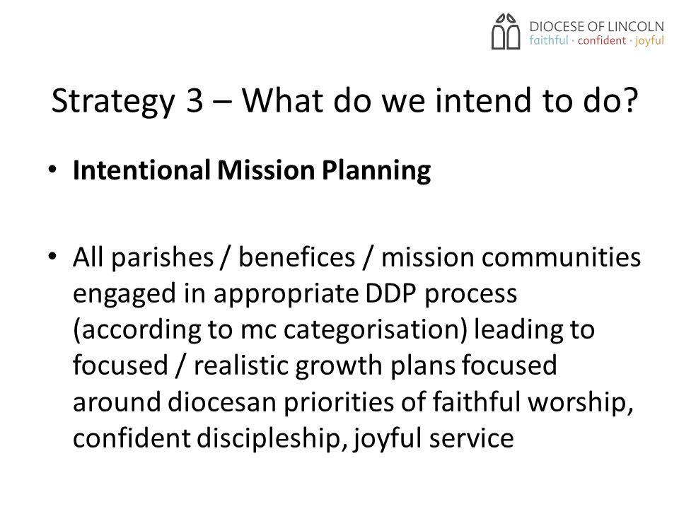 Strategy 3 – What do we intend to do.