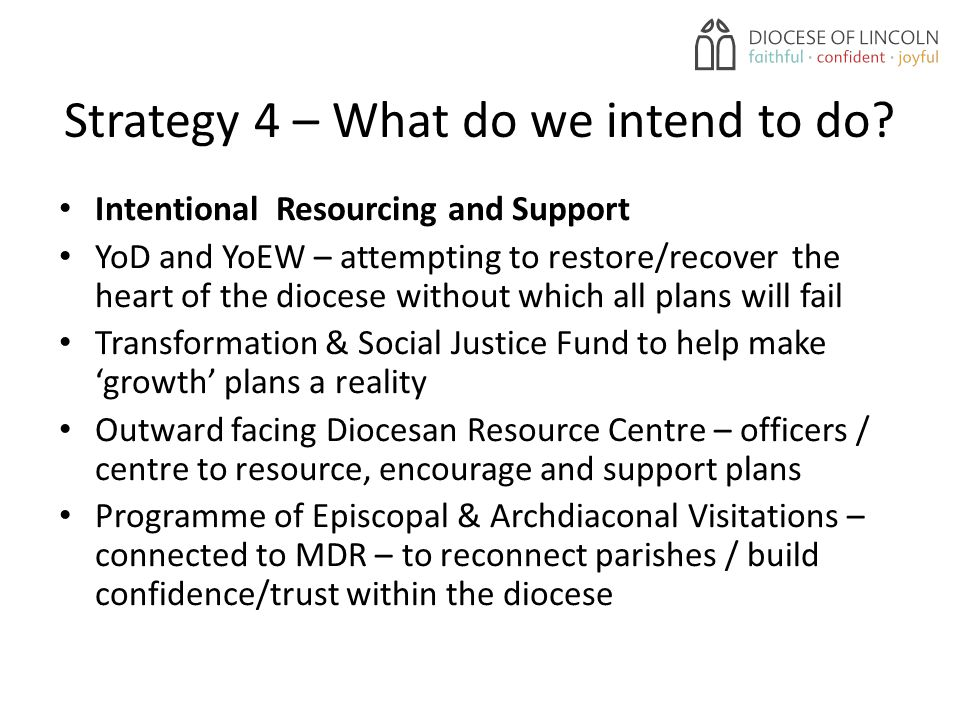 Strategy 4 – What do we intend to do.