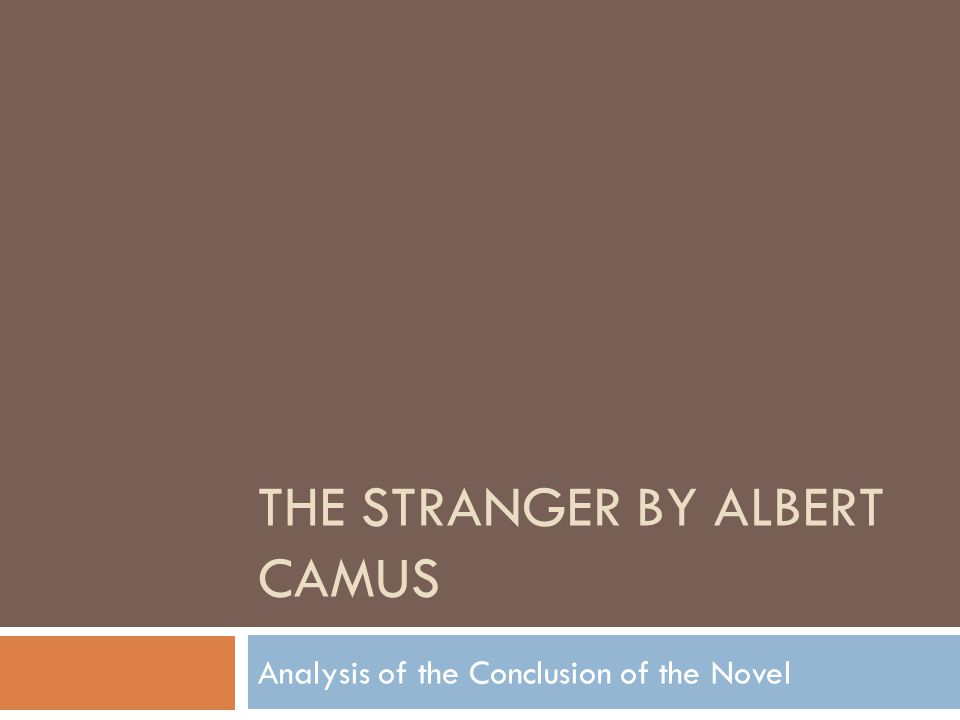 the outsider camus analysis
