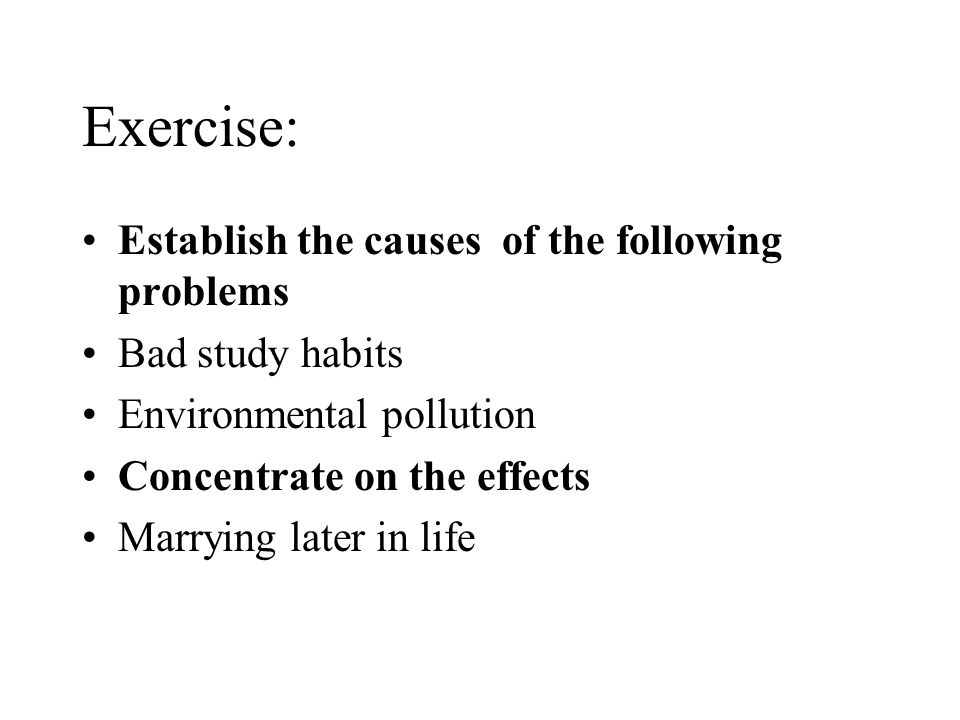 bad habits for students essay