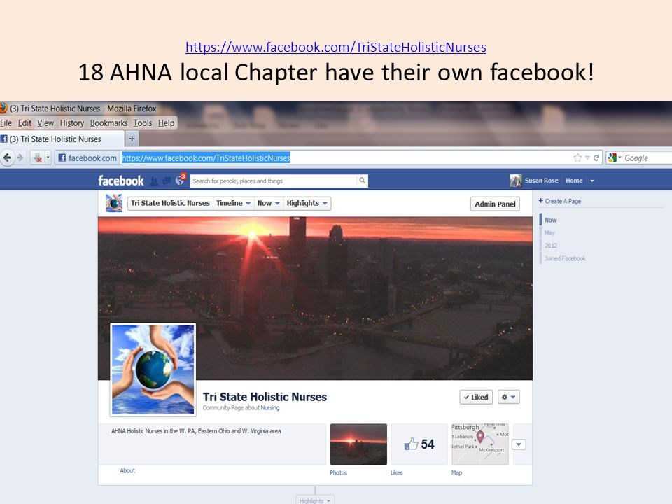 AHNA local Chapter have their own facebook!