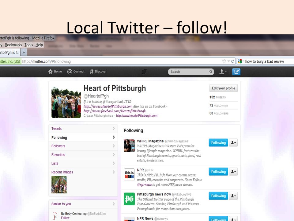Local Twitter – follow!