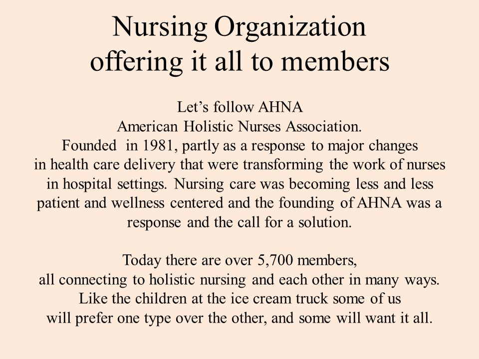 Nursing Organization offering it all to members Let's follow AHNA American Holistic Nurses Association.