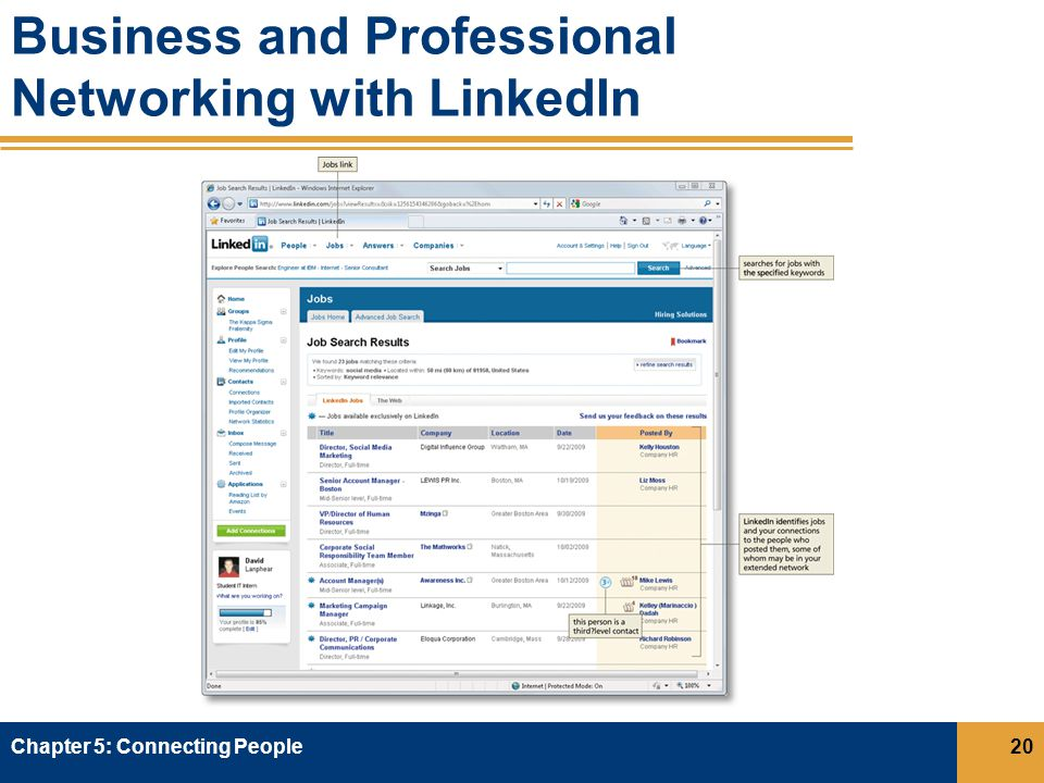 Business and Professional Networking with LinkedIn Chapter 5: Connecting People20