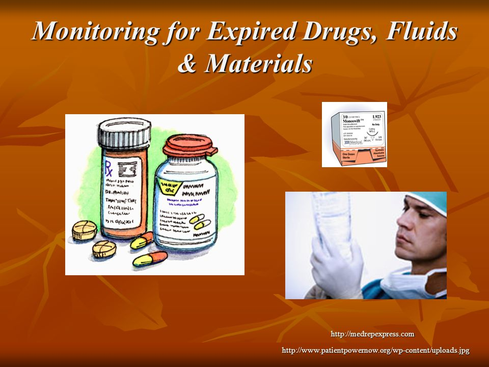Monitoring for Expired Drugs, Fluids & Materials