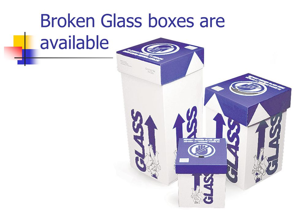 Broken Glass boxes are available