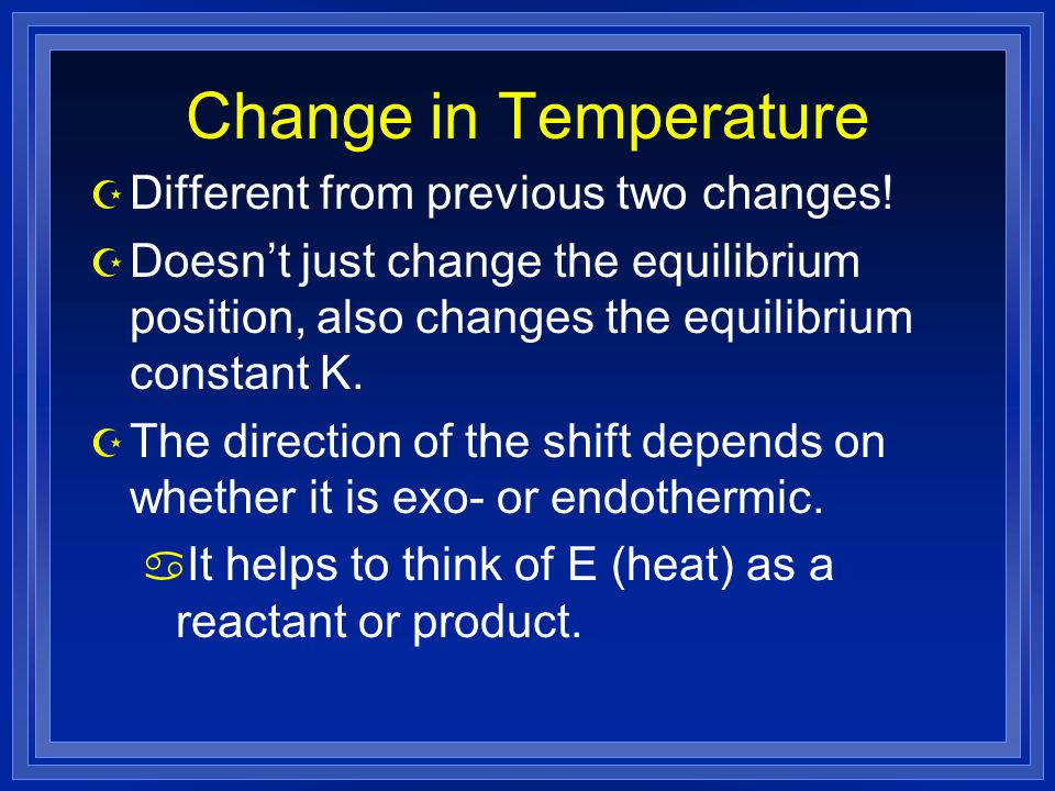 Change in Temperature Z Different from previous two changes.