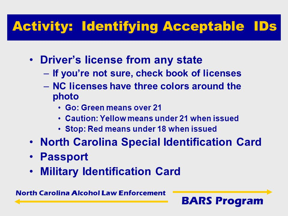 north carolina alcohol law enforcement bars program barss bars be a
