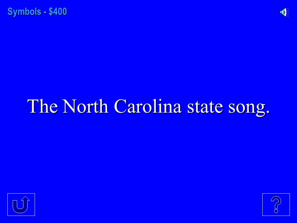 Symbols - $300 The two national forests in N.C.