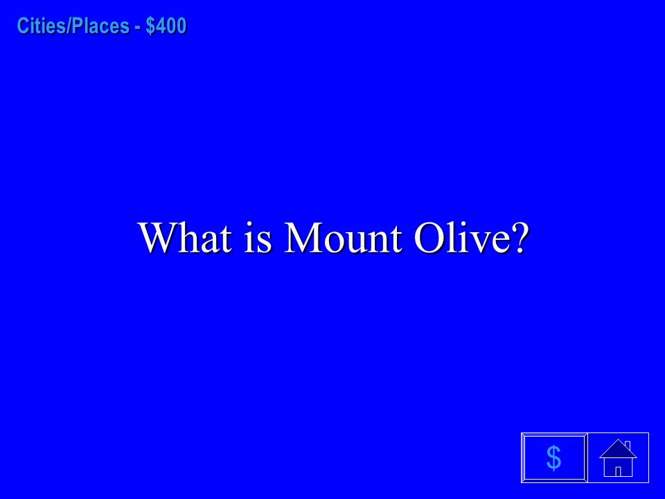 Cities/Places - $300 What is Mt. Mitchell $