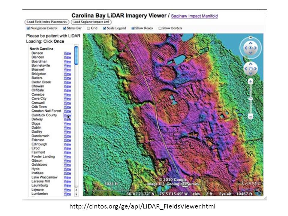 LiDAR IMAGERY EMPLOYED IN CAROLINA BAYS RESEARCH
