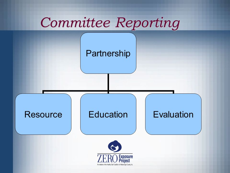 Committee Reporting Partnership ResourceEducationEvaluation
