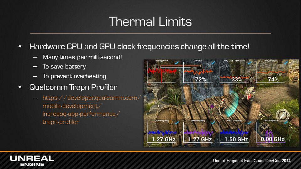 Unreal Engine 4 East Coast DevCon 2014 UE4 Mobile