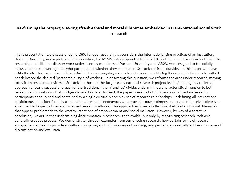 Researching internationalising practices through expanded