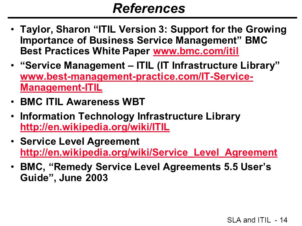 Sla And Itil 1 Service Level Agreements And Itil Janelle Swann