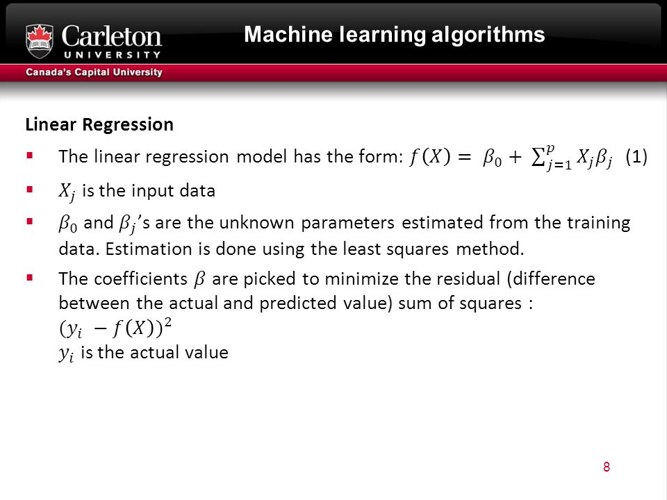 Machine learning algorithms 8