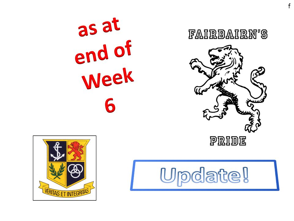 b1318206d366 F. f Sneak preview of positions as at end of week 6……. …JUNIORS… 12 ...