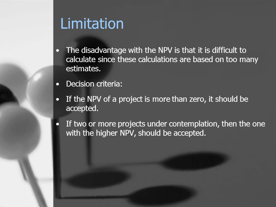 limitations of npv