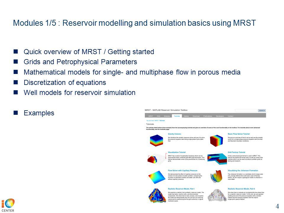 IO4 - course : Long term production optimization 1 Focus on