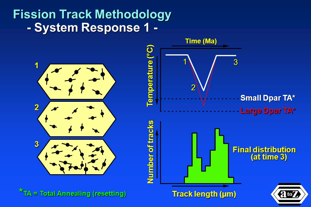 Fission track dating methodology